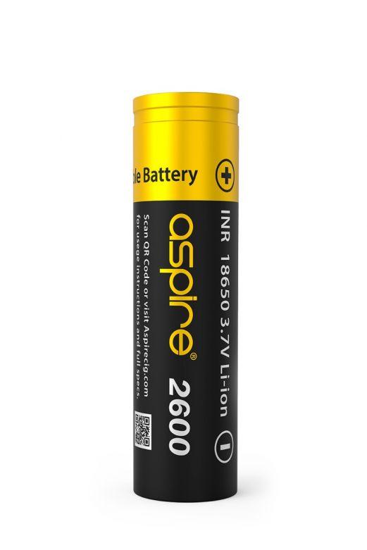 Aspire 18650 Li-ion Battery 2600 mAh 20A 3.7V