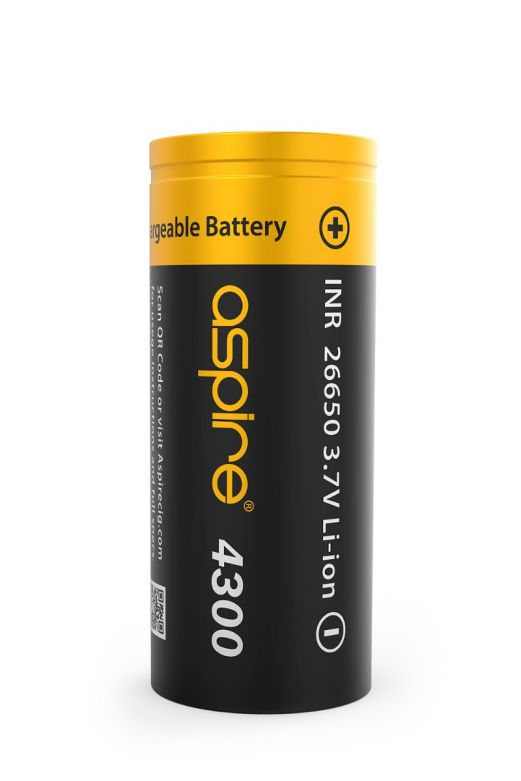 Aspire 26650 Li-ion Battery 4300 mAh 40A 3.7V