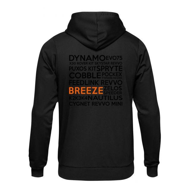 Aspire Black vs Orange Breeze Hoodie