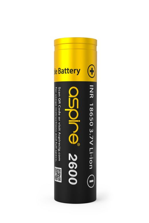 Aspire 18650 Li-ion Battery 2600 mAh 20A 3.7V
